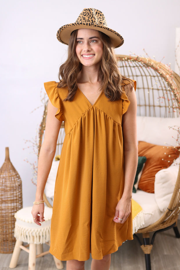 Autumn Beauty Rust Dress