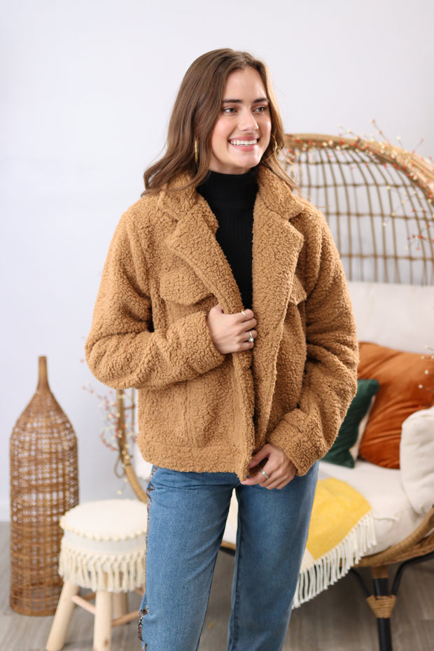 Bear Hugs Camel Jacket