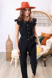 Midnight Memories Black Jumpsuit