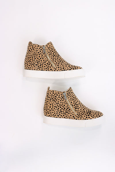 Taylor Leopard Wedge Sneakers