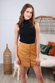 Unforgettable Camel Skirt