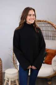 Autumn Breeze Black Sweater