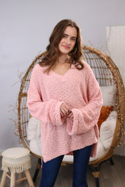 Blessing In Disguise Blush Sweater