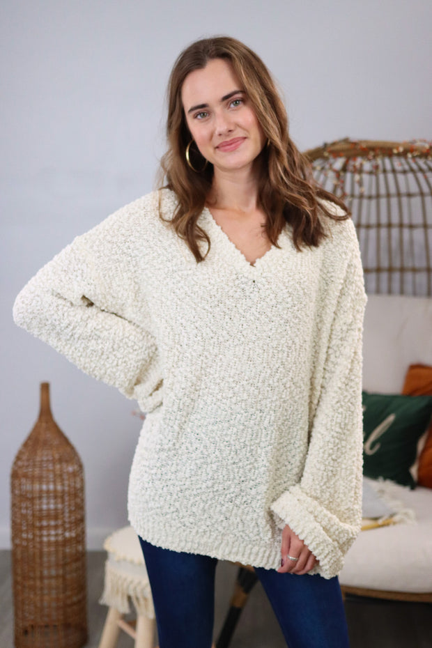 Blessing In Disguise Ivory Sweater