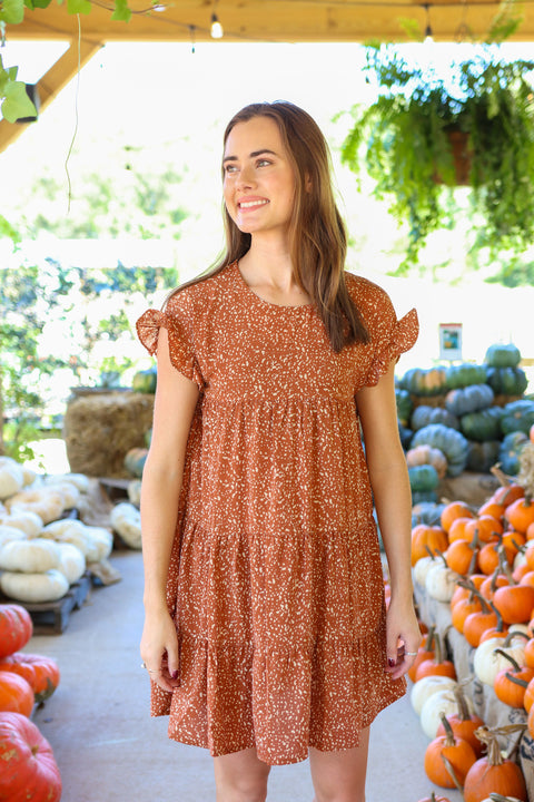Feeling The Breeze Light Brown Dress