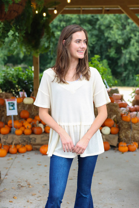 A Touch Of Fall Cream Top