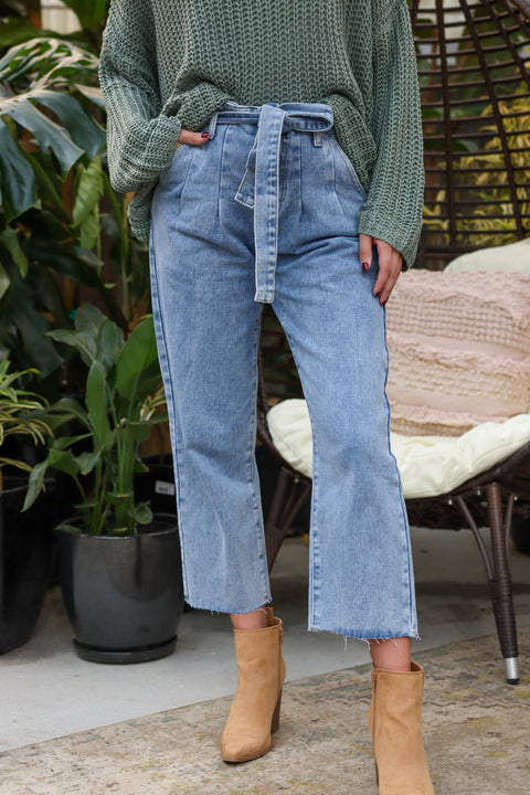 Anna Paperbag Denim Jeans