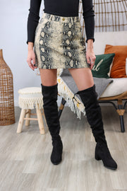 Catherine Black Knee-High Boots