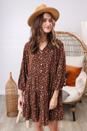 Autumn Delight Chocolate Dress