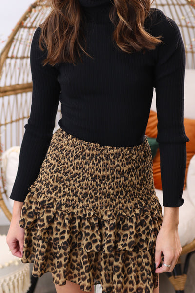 Leave Her Wild Brown Skirt