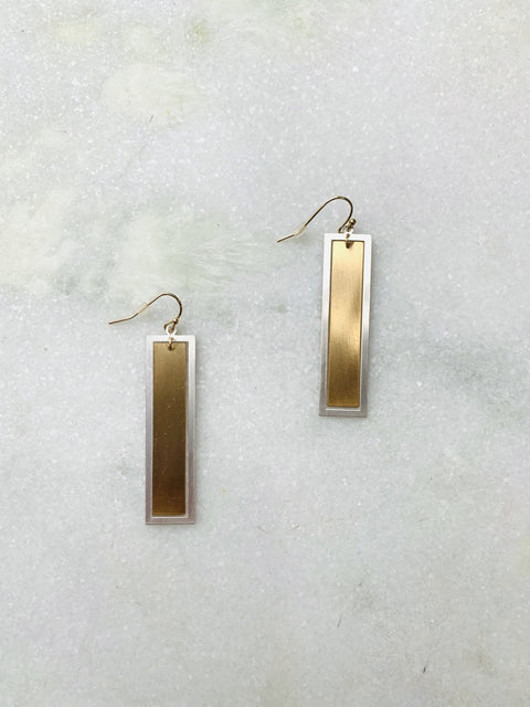 Beauty From Within Rectangle Earrings