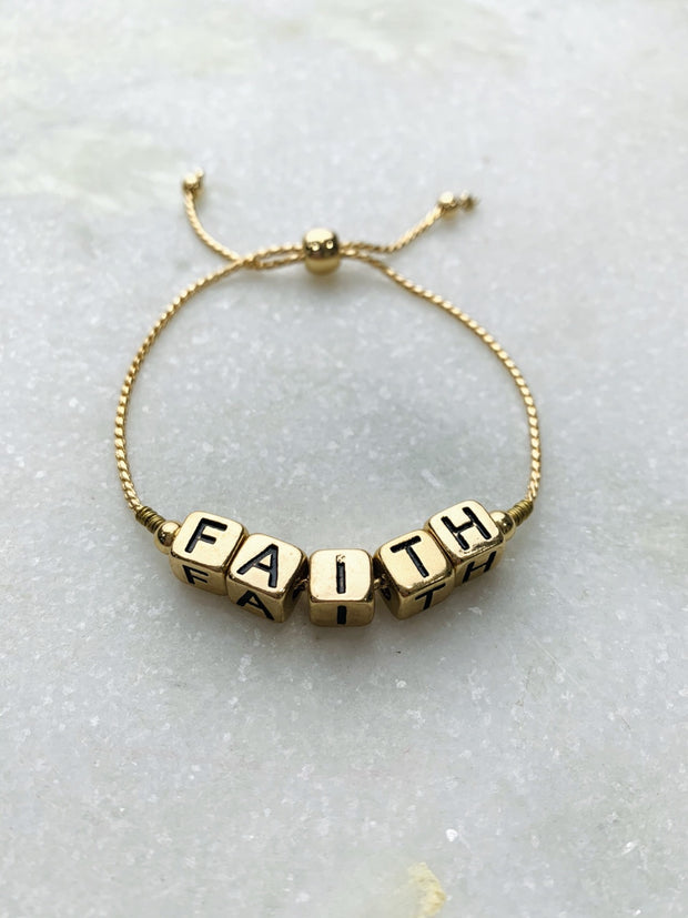 Faith Beaded Bracelet