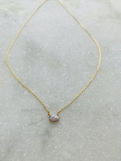 Dainty Everyday Iridescent Necklace