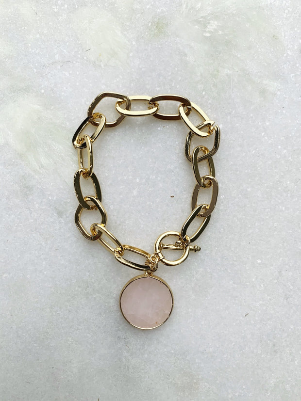 Touch Of Pink Rose Quartz Bracelet