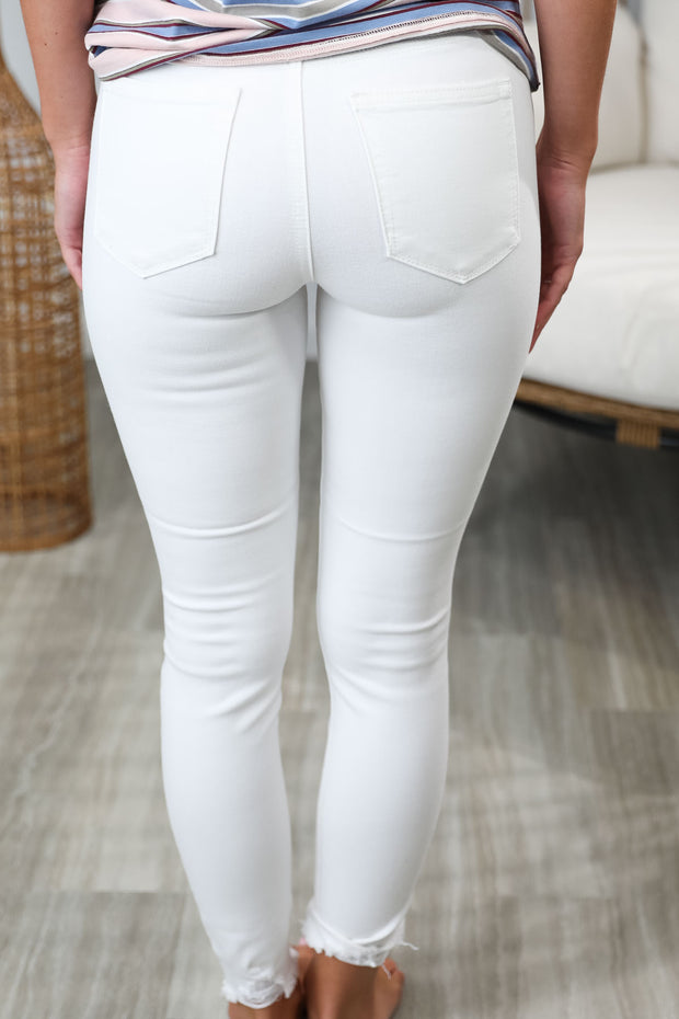 The Caitlyn White Skinny Jeans