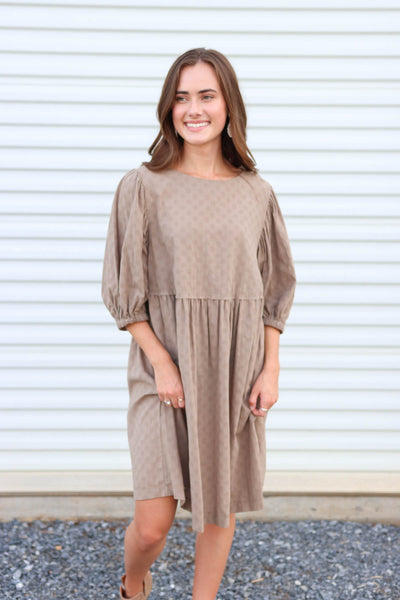 It's Fall Y'all Taupe Dress