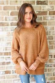 Lost In This Moment Deep Camel Sweater