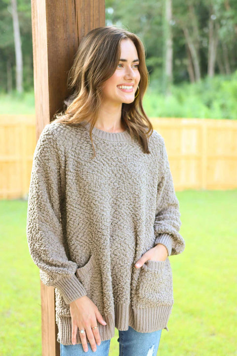 Lost In This Moment Ash Mocha Sweater