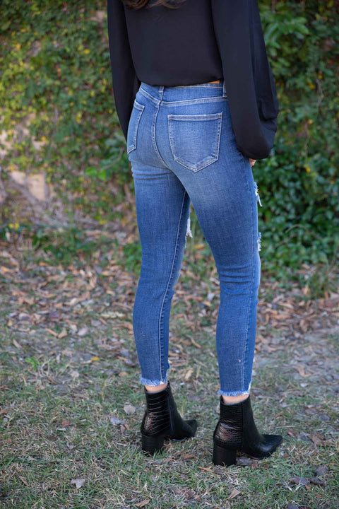 Brooklyn Dark Denim Cropped Skinny Jeans