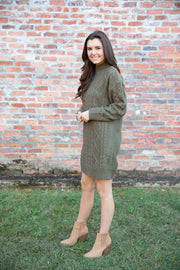 Christmas Charm Soft Olive Dress