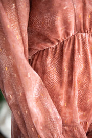 Seeking You Rust Dress