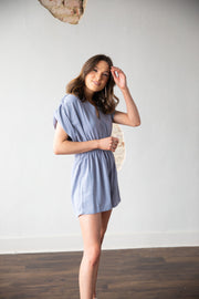 All I Need Lilac Grey Romper