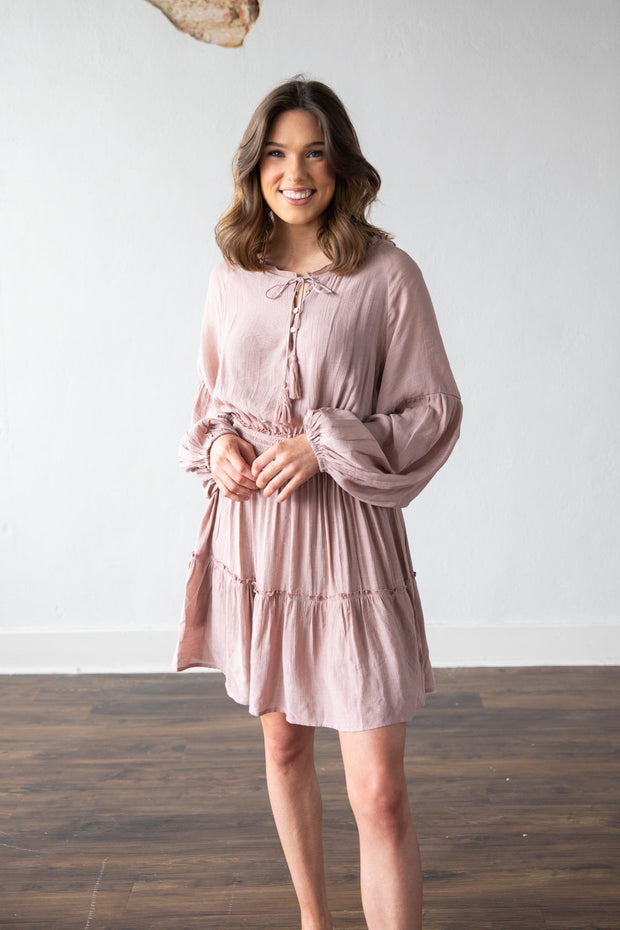 Time To Go Mauve Dress