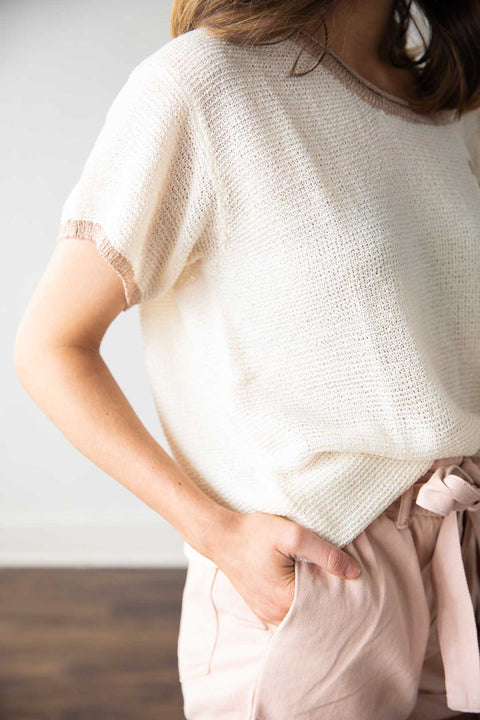 Make A Way Cream/Taupe Sweater