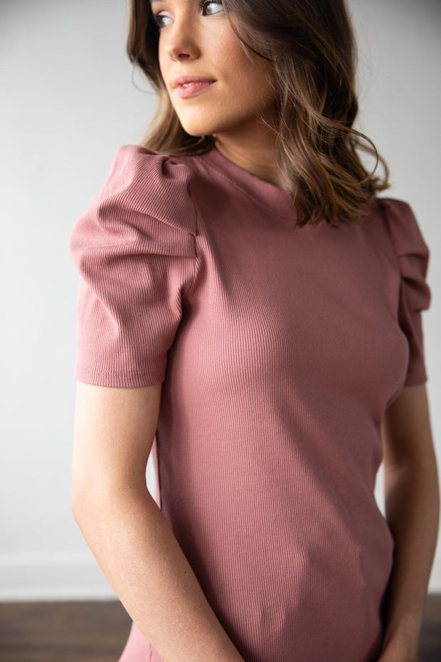 The Coco Mauve Top