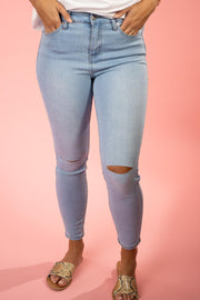 The Jessica Light Blue Skinny Jeans