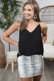 Final Fling Black Cami Top