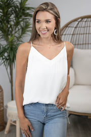 Final Fling Off-White Cami Top