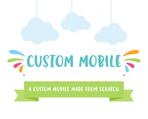 Custom Made Mobile, Baby Crib Mobile, Unique Handmade Nursery Wall Decor