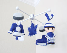 Load image into Gallery viewer, Hockey Mobile, Baby Crib Mobile, Sports Hockey Team, Boys Nursery Room Decor