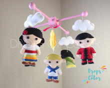 Load image into Gallery viewer, It's a Small World Mobile, Baby Crib Mobile, Nursery Wall Decor, Kids around the World