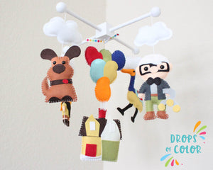 UP Mobile, Baby Crib Mobile, Nursery Inspired by UP, Nursery Decor