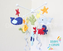 Load image into Gallery viewer, Ocean Mobile, Baby Crib Mobile, Under the Sea Creatures Nursery Room Decor