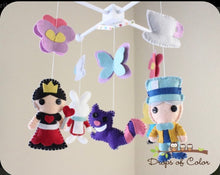 Load image into Gallery viewer, Alice in Wonderland Mobile, Baby Crib Mobile, Nursery Decor