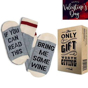If You Can Read This Bring Me Wine Socks