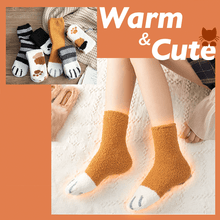Load image into Gallery viewer, Winter Cat Claw Socks