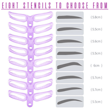 Load image into Gallery viewer, Easy Eyebrow Shaping Stencil (Set of 8)