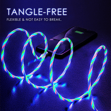 Load image into Gallery viewer, Magnetic LED Flowing Charging Cable