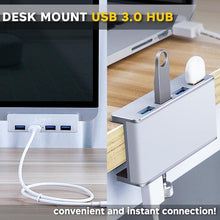 Load image into Gallery viewer, Desk Mount USB 3.0 Hub