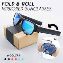 Load image into Gallery viewer, Roll & Fold Mirrored Sunglasses