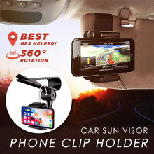 Load image into Gallery viewer, Car Sun Visor Phone Clip Holder