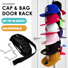 Load image into Gallery viewer, Adjustable Cap & Bag Door Rack