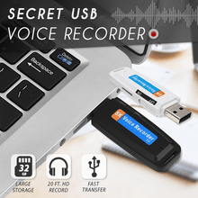 Load image into Gallery viewer, Secret USB Voice Recorder