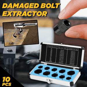 Universal Damaged Bolt Extractors (Set of 10)