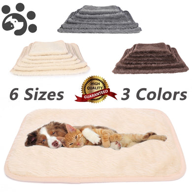 Dog Pet Bed for large dogs Cat Blanket Dog Mat Warm Faux Fur Plush Small Medium Dog Bed for Pet Cat Mat Dogs Cushion Bed BD0010