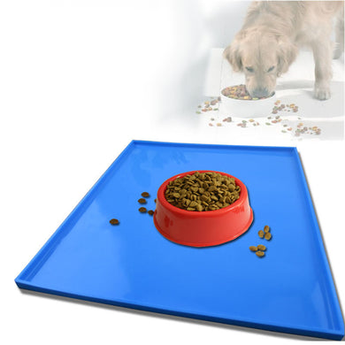 Waterproof Pet Mat For Dog Cat Solid Color Silicone Pet Food Pad Pet Bowl Drinking Mat Dog Feeding Placemat Easy Washing